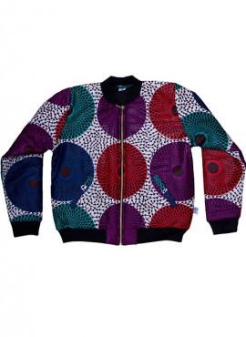 Ali, foret bomber jacket, Multi-Color Insubura, unisex