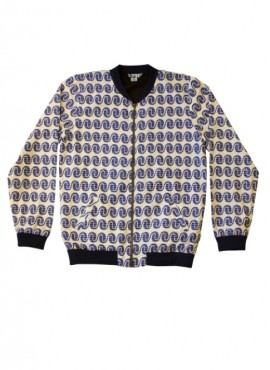 Ali, adult bomber jacket, Blue Wave, unisex, limited edition
