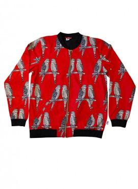 Ali voksen bomber jackets, Red Birds, unisex, limited edition