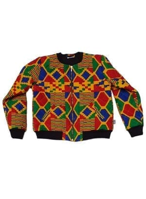 Ali, quiltet bomber jacket, Strong Yellow Kente- Kwadusa.com
