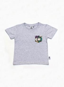 Alvin, T-shirt, grå, mint rings