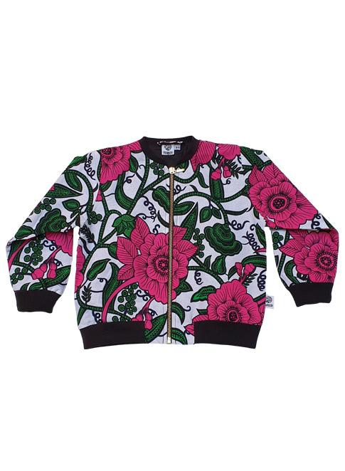 Anissa, bomber jacket, Big Pink Flowers