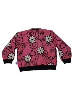 Anissa, bomber jacket, Flowers in Dark Pink