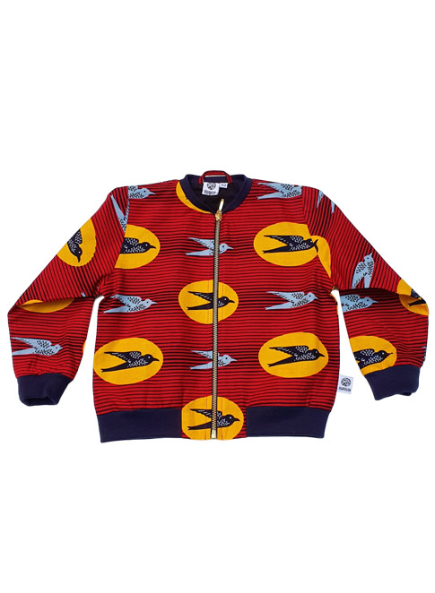 Anissa, bomber jacket, Money has Wings in Red