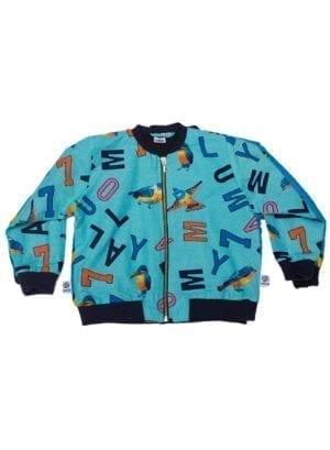 Anissa, bomber jacket, Turquoise Letters