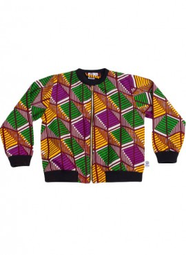 Anissa, bomber jacket, Geometric