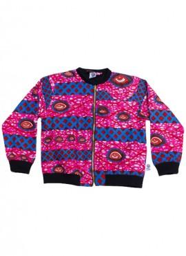 Anissa, bomber jacket, Pink Eyes