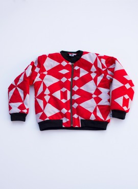 Fatma, bomber jacket, grafisk rød, limited edition