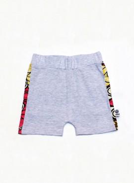 Anton, shorts, grå, pink rings