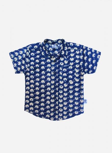 Conrad, kortærmet skjorte, Blue Apples, limited edition