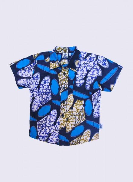 Conrad, kortærmet skjorte, Blue Bubbles, limited edition