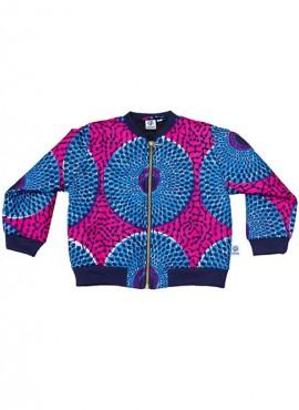 Fatma, foret bomber jacket, Light Blue Insubura