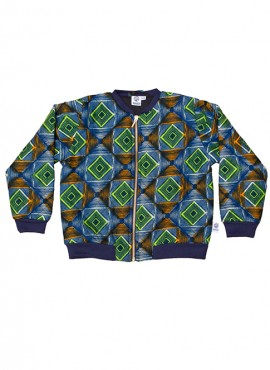 Fatma, quiltet bomber jacket, Psychedelic, limited edition