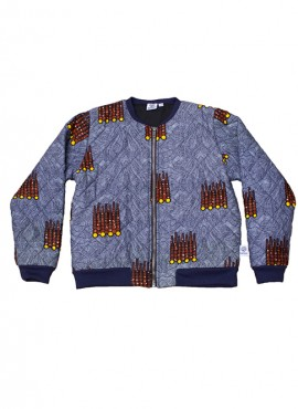 Fatma, quiltet bomber jacket, Brown Pipe, limited edition
