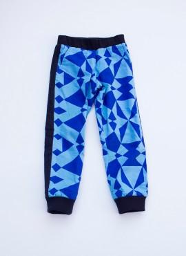 Felix, bukser, grafisk blå, limited edition