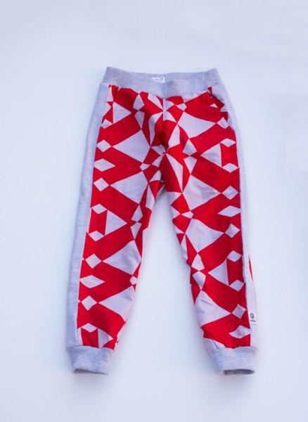 Felix, bukser, grafisk rød, limited edition