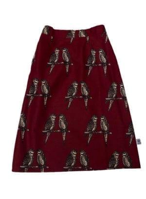 Gloria, skirt, Maroon Birds