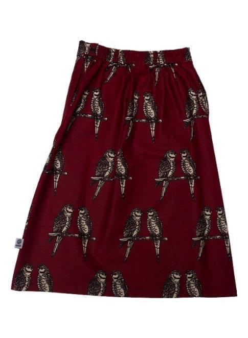 Gloria, nederdel, Maroon Birds