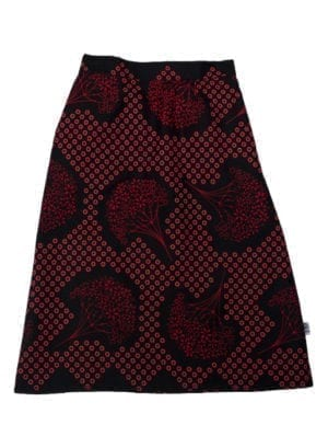 Gloria, skirt, Red Trees in Black