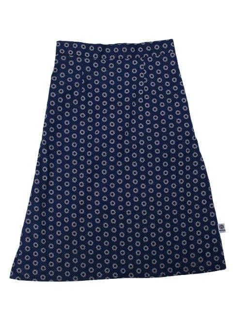 Gloria, skirtl, White sun in Blue