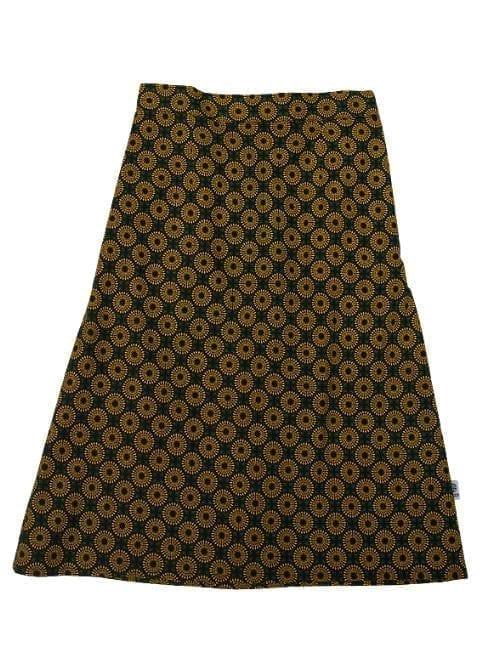 Gloria, skirt, Yellow Sun in Green and Black
