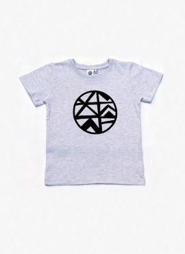 T-shirt, grå, logo