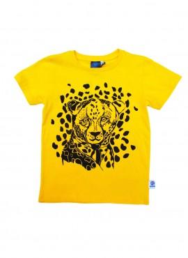 T-shirt, gul, leopard