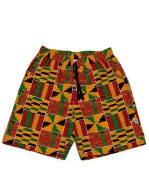 Hannibal shorts Yellow Kente