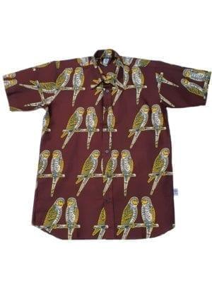Hans, kortærmet skjorte, Braun Birds