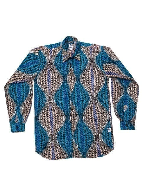 Henry, long-sleeved shirt, Turquoise Hour Glass