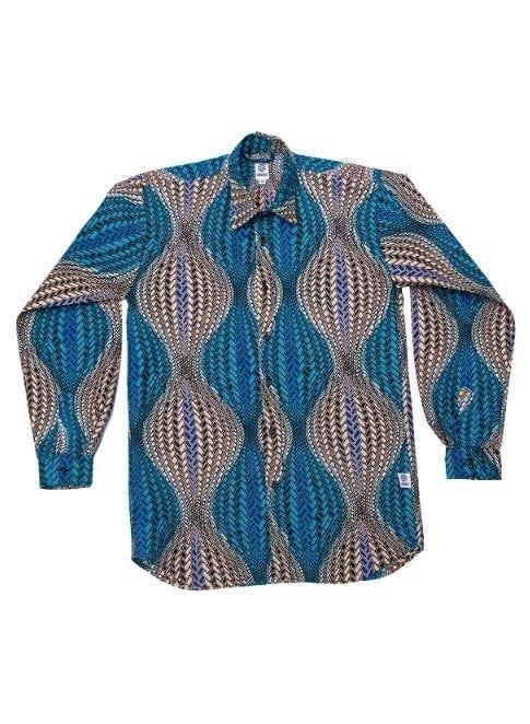 Henry, langærmet skjorte, Turquoise Hour Glass