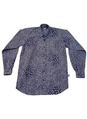 Henry, langærmet skjorte, White Lines in Blue