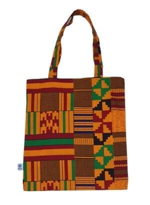 Joy, Tote Bag, Dark Yellow Kente - Kwadusa.comDark Yellow Kente - Kwadusa.com