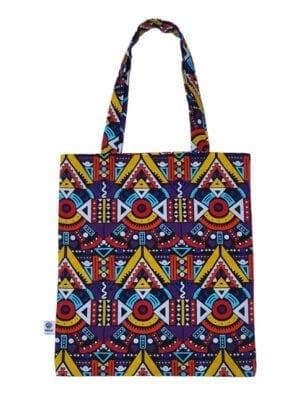 Joy, Tote Bag, Multi-color Kente - Kwadusa.com