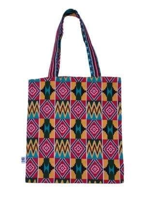 Joy, Tote Bag, Red Kente - Kwadusa.com