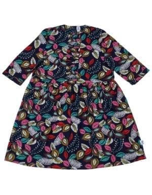 Klara oversize kjole Colorful Feathers