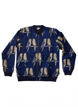 Ali, bomber jacket, Blue Birds, unisex, limited edition