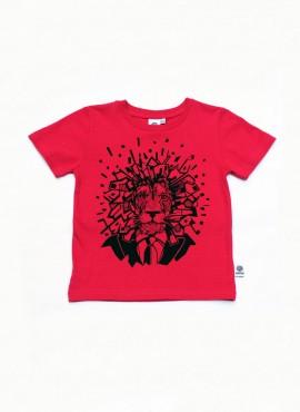 T-shirt, pink, løve