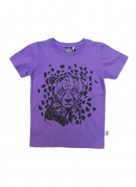 T-shirt, lilla, leopard