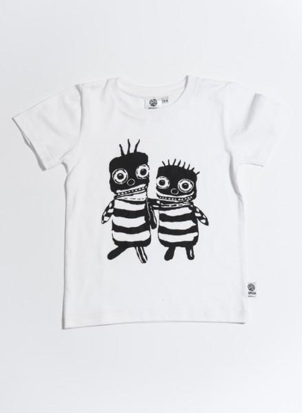 T-shirt, øko, hvid, Bee friends