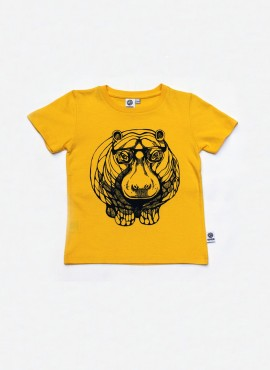 T-shirt, gul, flodhest