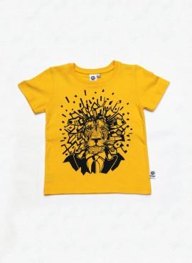 T-shirt, gul, løve
